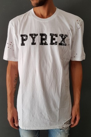 T-SHIRT PYREX JERSEY CON ROTTURE